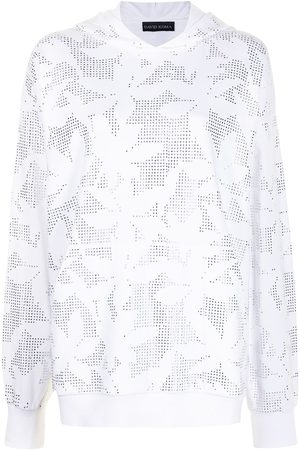 DAVID KOMA Floral embroidered hoodie