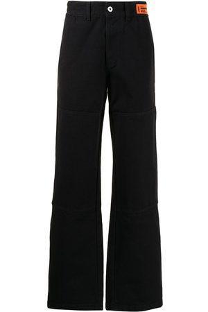 Heron Preston Men Straight - Logo-patch straight-leg jeans