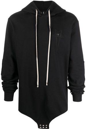 Rick Owens Men Sweatshirts - Embroidered-logo hoodie