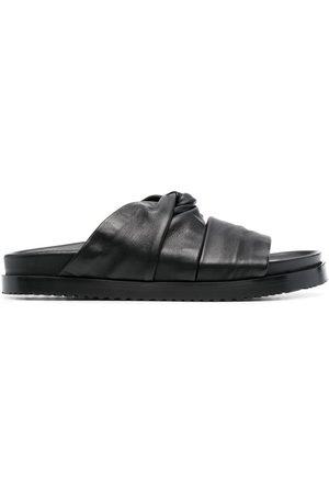 3.1 Phillip Lim Twisted Pool leather slides