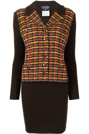 CHANEL Women Knitted Dresses - 1995 layered jacket-effect knitted dress