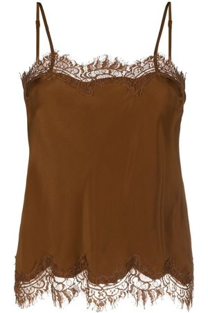 Gold Hawk Lace-panel camisole