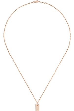 AS29 Women Necklaces - 18kt rose small diamond tag necklace