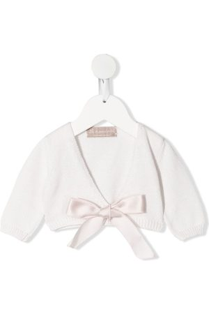 LA STUPENDERIA Baby Cardigans - Bow-detail cardigan
