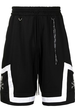 MASTERMIND Men Sports Shorts - Skull-embroidered basketball shorts
