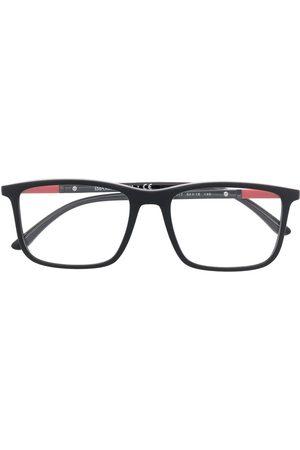 Emporio Armani Polished rectangle-frame glasses