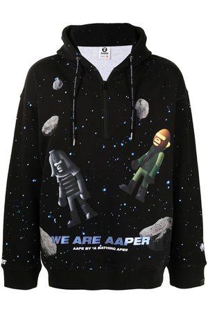 AAPE BY A BATHING APE Men Sweatshirts - Space print hoodie