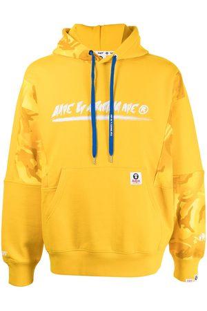 AAPE BY A BATHING APE Panelled logo-print hoodie
