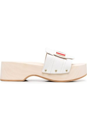 Thom Browne Enamel plaque wooden clog
