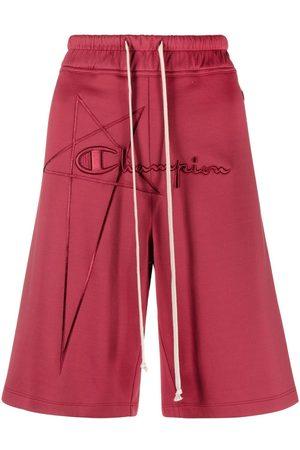 Rick Owens Embroidered-logo jogger shorts