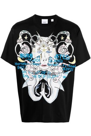 Burberry Montage print oversized T-shirt