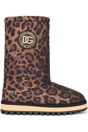 Dolce & Gabbana City leopard-print boots