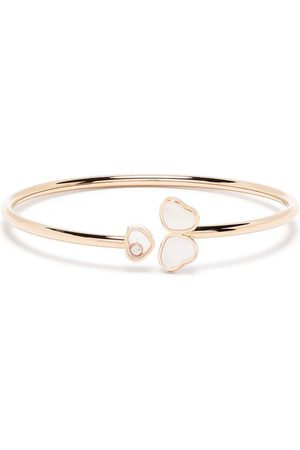 Chopard Women Bracelets - 18kt rose gold Happy Hearts Wings diamond and mother-of-pearl bangle