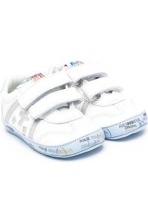 Premiata Logo-patch touch-strap sneakers