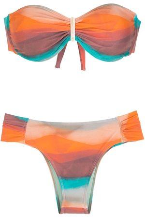 Brigitte Printed gradient effect bikini set