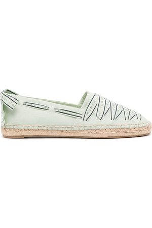 Tory Burch Ribbon herringbone espadrilles