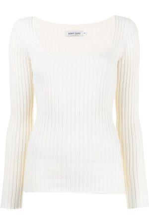 Anna Quan Women Long Sleeve - Mia ribbed knit top