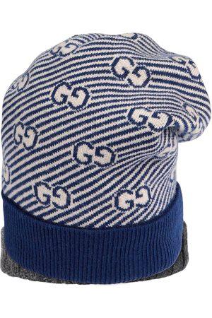 Gucci Boys Beanies - GG intarsia-knit beanie hat