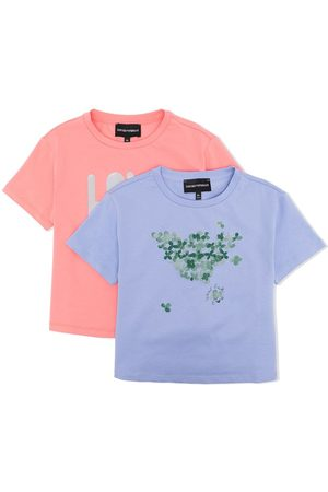 Emporio Armani Girls Short Sleeve - Love-print T-shirt