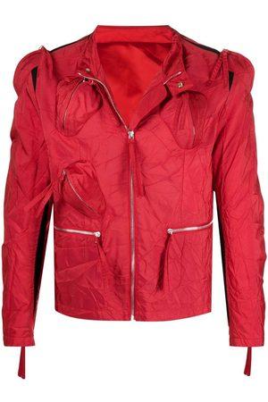 Kanghyuk Crinkled effect zip-up jacket