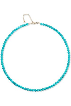 Mateo 14kt yellow turquoise beaded necklace