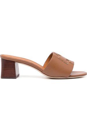 Tory Burch Women Sandals - Ines logo-patch sandals