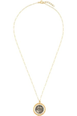 BY ALONA Textured-bezel coin-pendant necklace