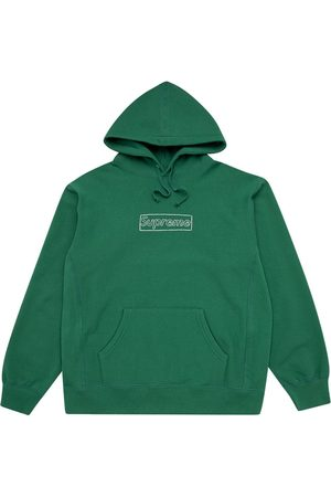 Supreme Men Sweatshirts - Kaws Chalk Logo hoodie