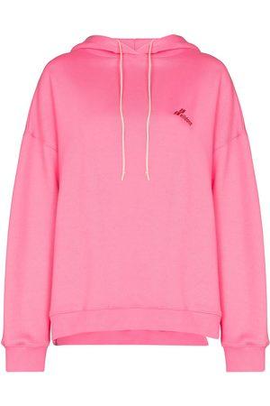 We11 Done Women Hoodies - Logo-print cut-out hoodie