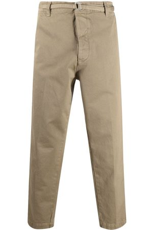 haikure Belted straight-leg chinos