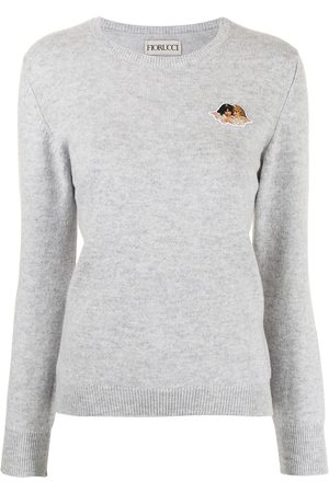 Fiorucci Patch-detail knitted jumper