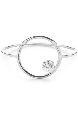 The Alkemistry Women Rings - 18kt gold drilled diamond circle ring