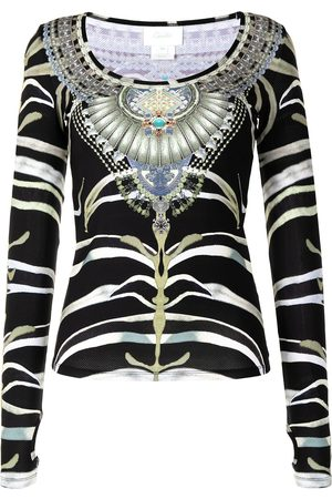 Camilla Zebra jewel print top