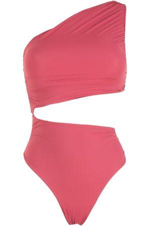 Brigitte Cut-out ruched swimsuit