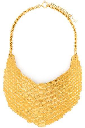 Yves Saint Laurent 2000s python effect necklace