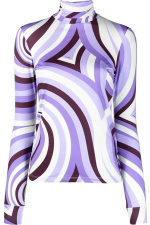 RAF SIMONS Swirl print stretch-fit top