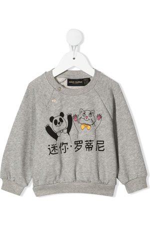 Mini Rodini Panda and cat-print sweatshirt