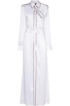 Y / PROJECT Asymmetric placket maxi shirt dress
