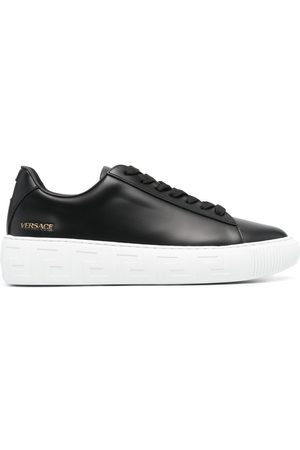 VERSACE Men Sneakers - Logo-patch lace-up sneakers