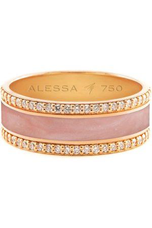 Alessa W Women Rings - 18kt rose gold Spectrum diamond border ring