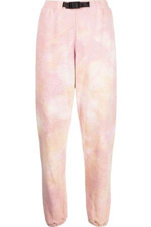 JOHN ELLIOTT Belted-waist tie-dye track trousers