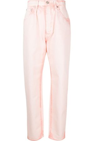 Alberta Ferretti Bleach-wash tapered jeans
