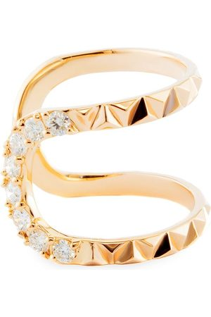 Alessa W 18kt rose gold Eruption pyramid small diamond ring