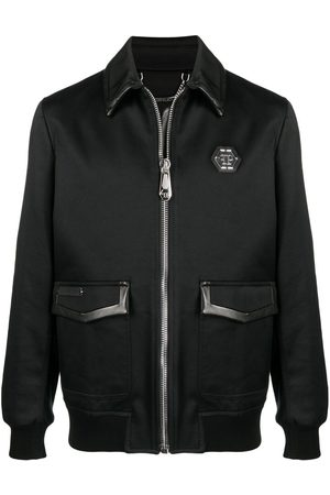 Philipp Plein Logo plaque cotton bomber jacket