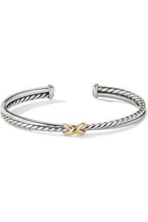 David Yurman Women Bracelets - 18kt yellow gold X cuff bracelet