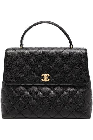 CHANEL 2003 diamond quilted briefcase