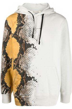 1017 ALYX 9SM Men Sweatshirts - Snakeskin-print cotton hoodie