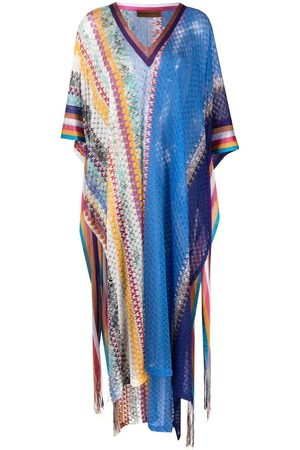 Missoni Chevron-knit midi beach dress