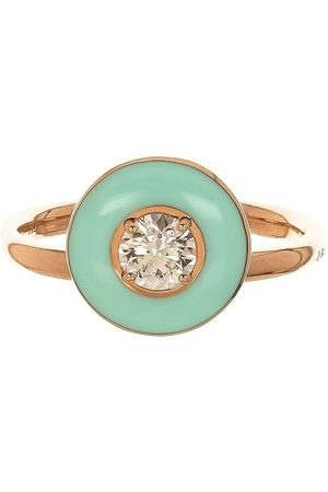 SELIM MOUZANNAR Women Rings - 18kt rose gold mint green enamel and diamond ring
