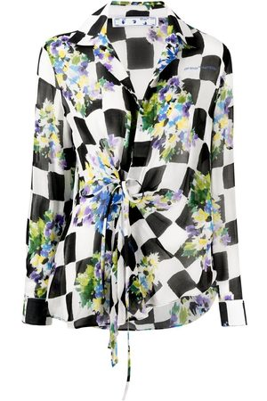 OFF-WHITE Women Tops - Checked floral shirt
